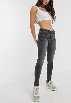 Abercrombie & Fitch Graue Jeans