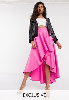 Laced In Love Asymmetrischer Statement-Rock in Pink