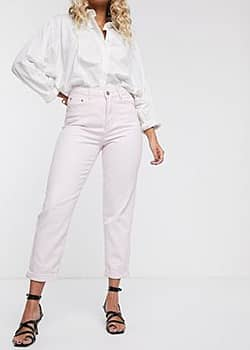 Glamorous Mom-Jeans in Vintage-Passform-Rosa