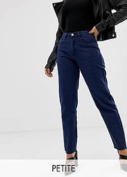 Missguided Blaue Mom-Jeans