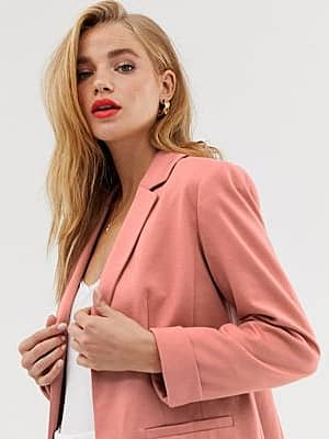 Miss Selfridge Eleganter Blazer in Blassrosa