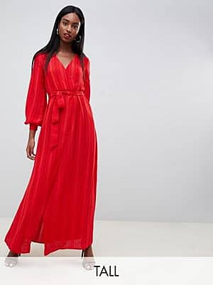 Missguided Tall Rotes Maxikleid mit