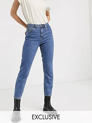 Only Mom-Jeans in 90er-Waschung-Blau